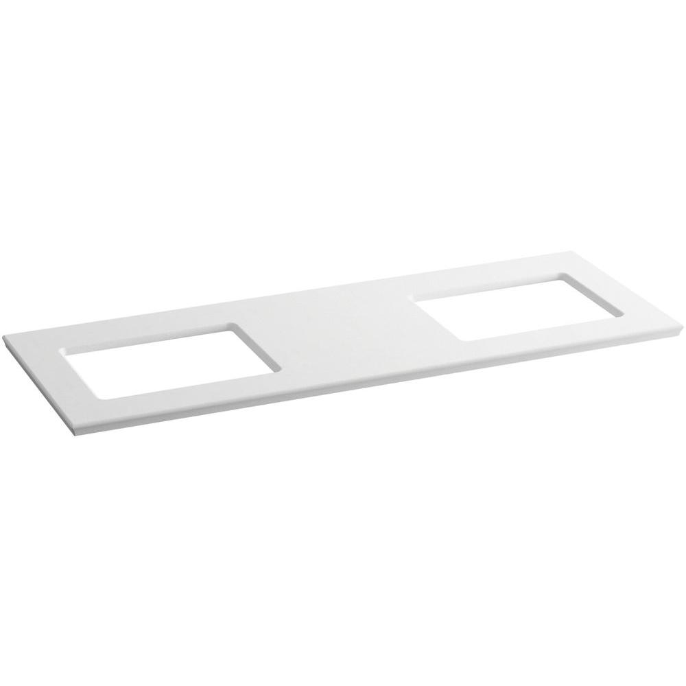 KOHLER Solid/Expressions 61.625 in. Solid Surface Vanity Top in White Expressions without Basin