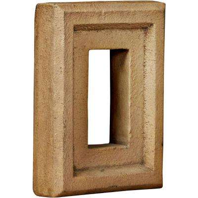 2 in. x 6-1/4 in. x 8-1/4 in. Saturn Urethane Universal Electrical Outlet for Stone and Rock Wall Panels