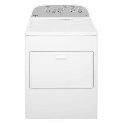 7.0 cu. ft. 240-Volt White Electric Vented Dryer with AccuDry