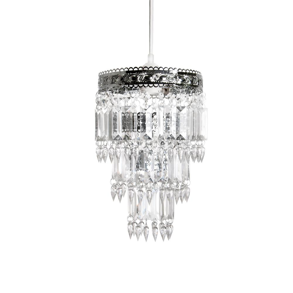 Tadpoles 8 in x 12 in 1 light faux crystal chrome pendant 1 light faux crystal chrome aloadofball Gallery