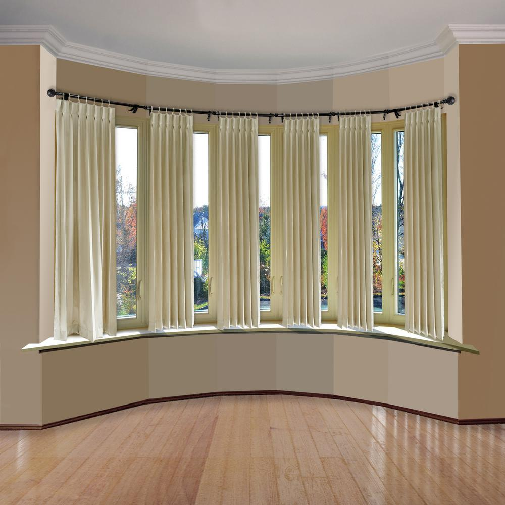 Emoh 13 16 Dia Adjustable 6 Sided Bay Window Curtain Rod 28 To 48