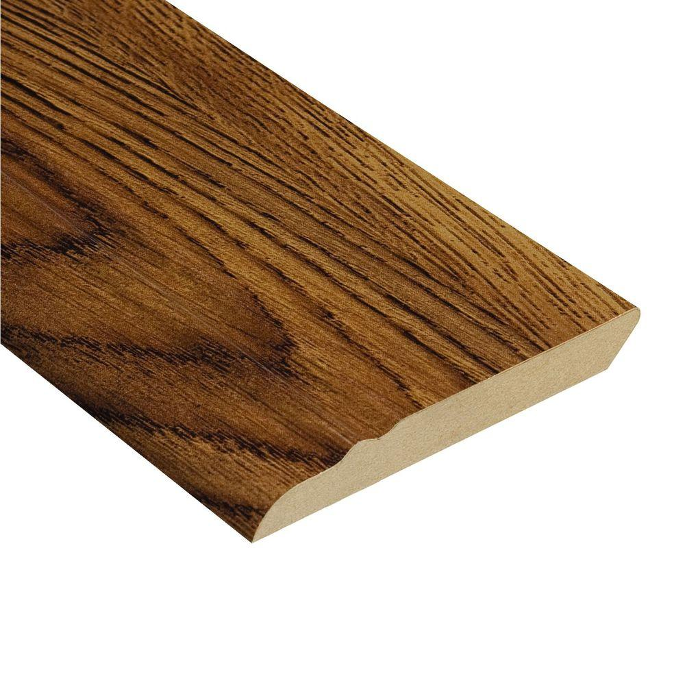 Hampton Bay Oak Burnt Caramel 12.7 mm Thick x 3-13/16 in. Wide x 94 in. Length Laminate Wall Base Molding-DISCONTINUED