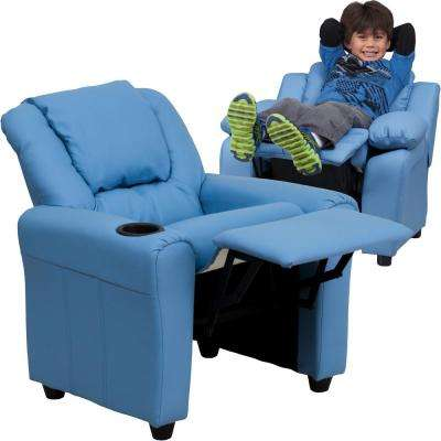 Contemporary Light Blue Vinyl Kids Recliner with Cup Holder and Headrest  sc 1 st  The Home Depot & Kids Furniture - Kids u0026 Baby Furniture - The Home Depot islam-shia.org
