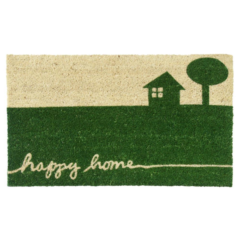 Rubber Cal Happy Home 30 In X 18 In Country Door Mat 10