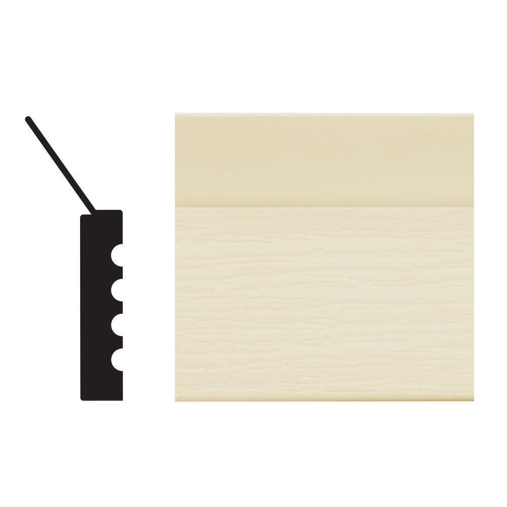 Royal Mouldings 2149 7/16 In. X 2 In. X 84 In. PVC Almond Garage Door Stop  Moulding 0214907004   The Home Depot