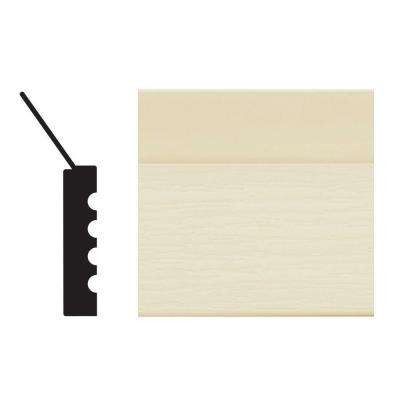 2149 7/16 in. x 2 in. x 84 in. PVC Almond Garage Door Stop Moulding
