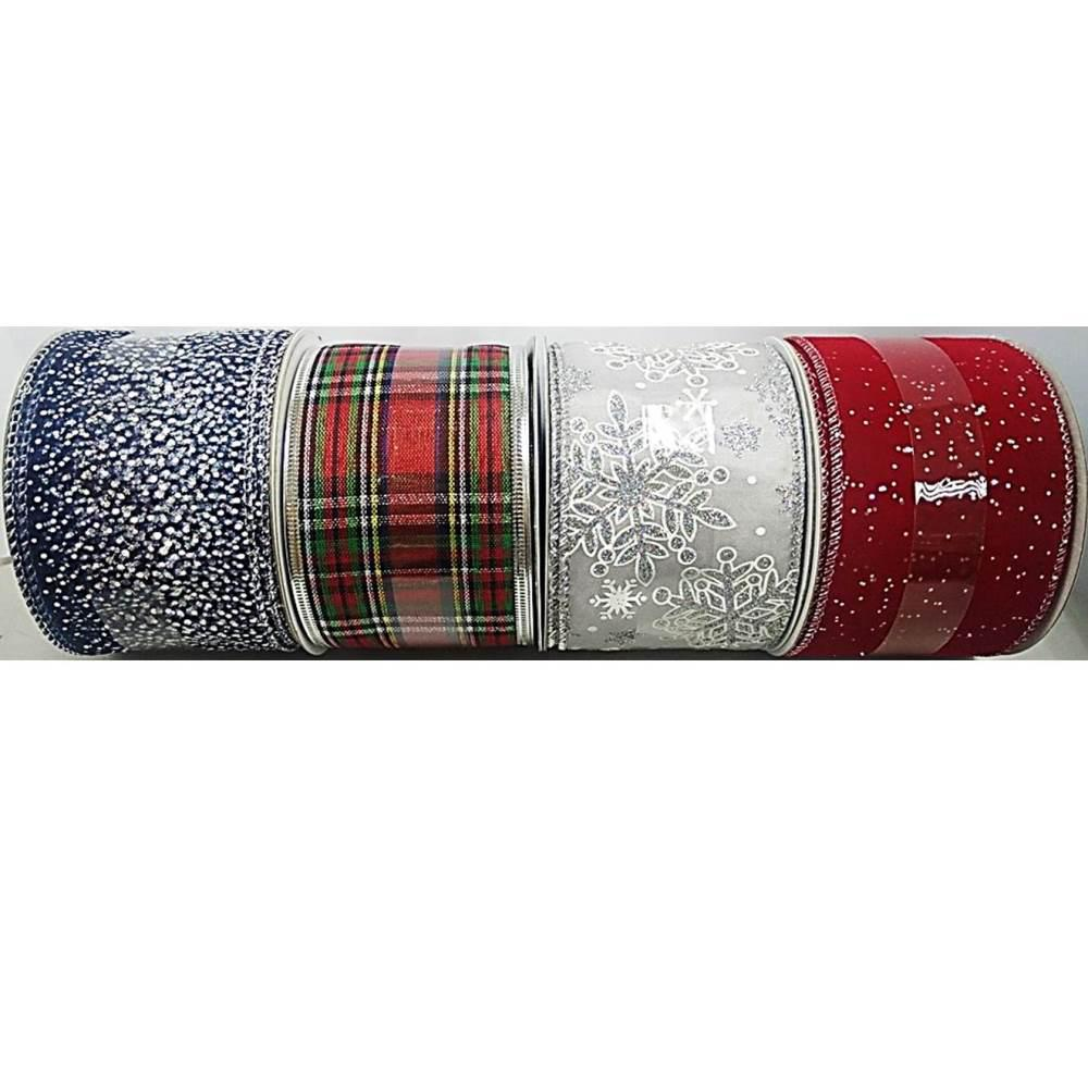 Home Accents Holiday 30 ft. Ribbon Spool Classic (4 Assorted Styles Available)