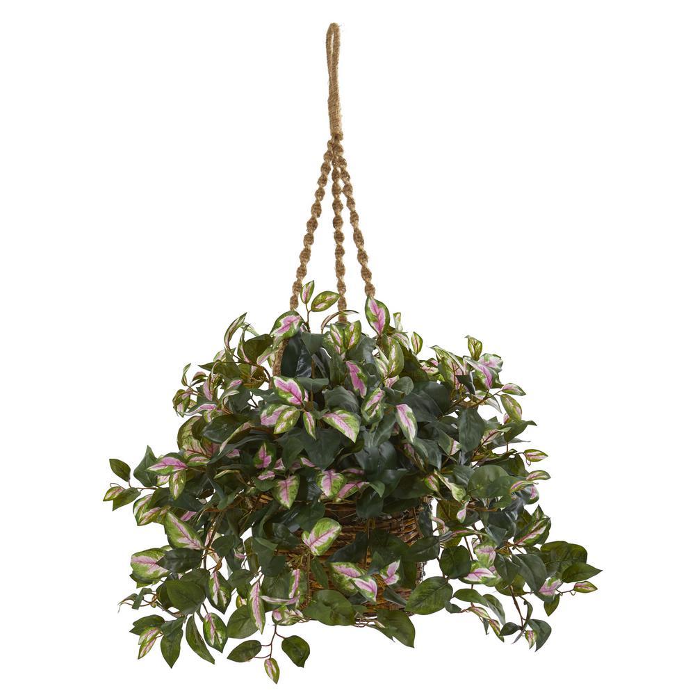 Indoor Hoya Artificial Plant Hanging Basket