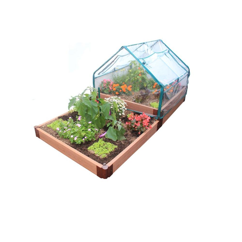Frame It All Deluxe Raised Garden Greenhouse Kit-DISCONTINUED