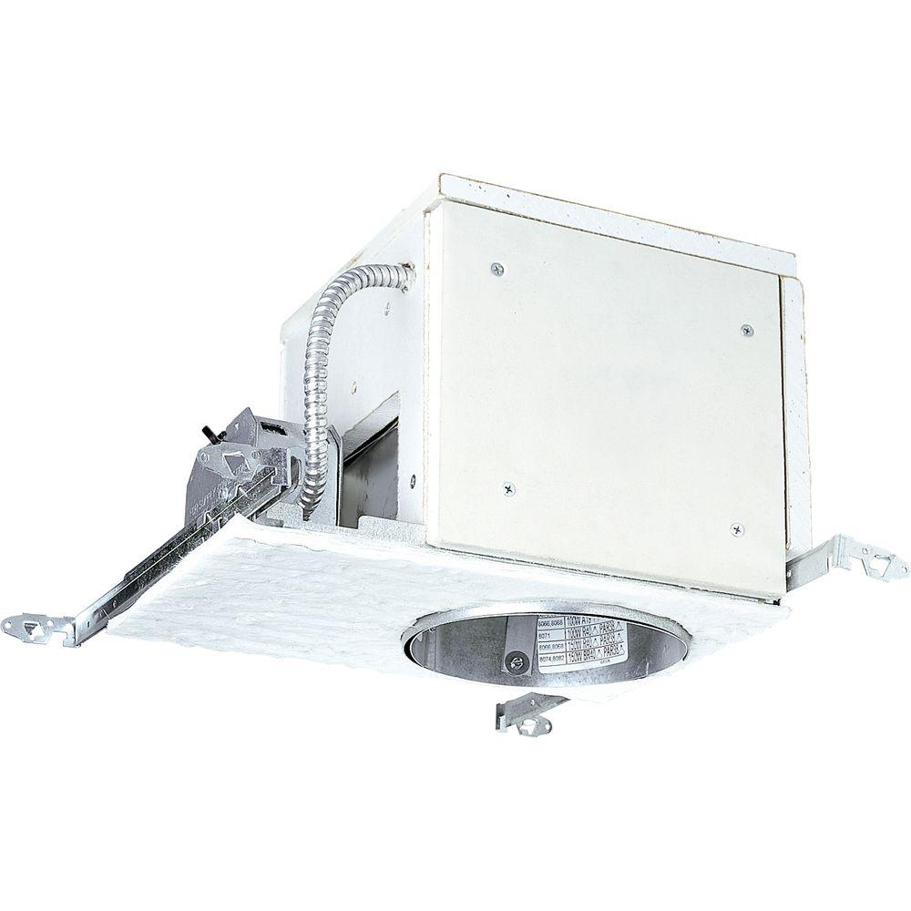 Progress Lighting 6 In. Firebox New Construction Recessed Metallic Housing With Air Tight, Ic