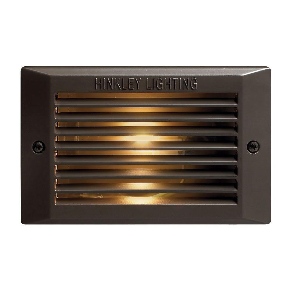 Hinkley Lighting 5.25 in. 25-Watt Bronze Step and Stair Deck Light