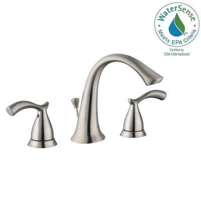Edgewood 8 in. Widespread 2-Handle High-Arc Bathroom Faucet in Brushed Nickel
