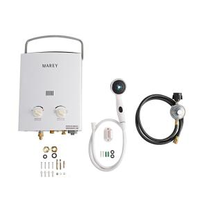 Marey 2 0 Gpm Liquid Propane Gas Portable Tankless Water Heater Ga5port The Home Depot