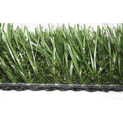 Fescue Green 15 ft. x Your Choice Length Roll Synthetic Lawn Grass Turf