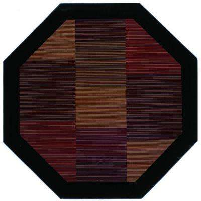 Everest Hampton's Multi Stripe 3 ft. 11 in. x 3 ft. 11 in. Octagon Area Rug