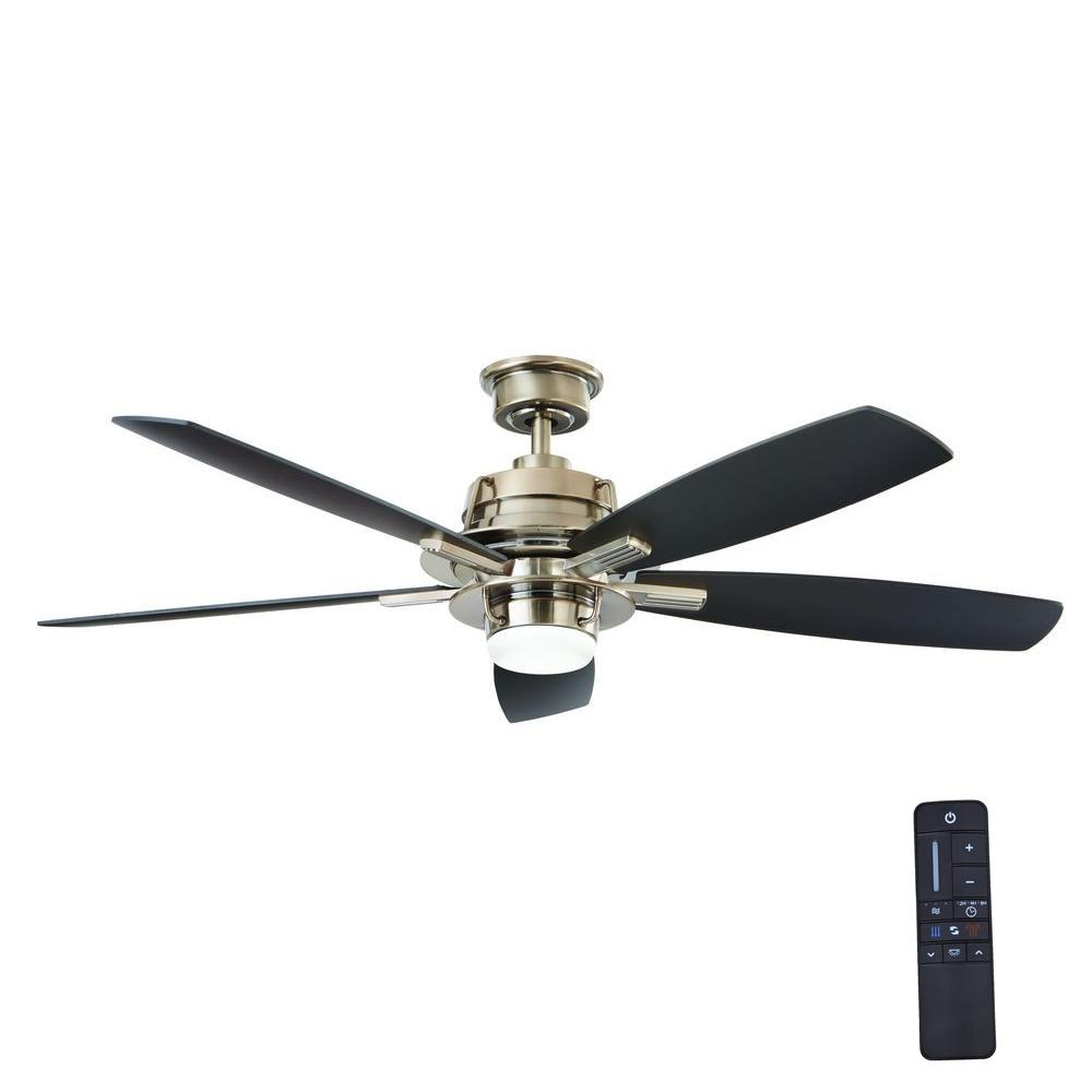Home Decorators Collection Montpelier 56 In Led Indoor Gunmetal Ceiling Fan With Light Kit And
