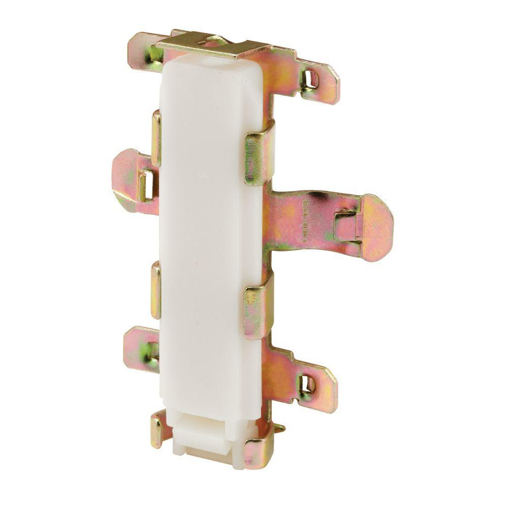 Steel-Framed Wardrobe Door Plastic Bottom Guides (2-Pack)
