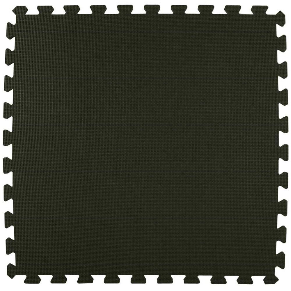 Economy Foam Black 2 ft. x 2 ft. x 1/2 in. Interlocking Puzzle Floor Tiles (Case of 20)