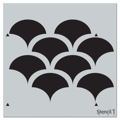 Solid Scallop Repeat Pattern Stencil