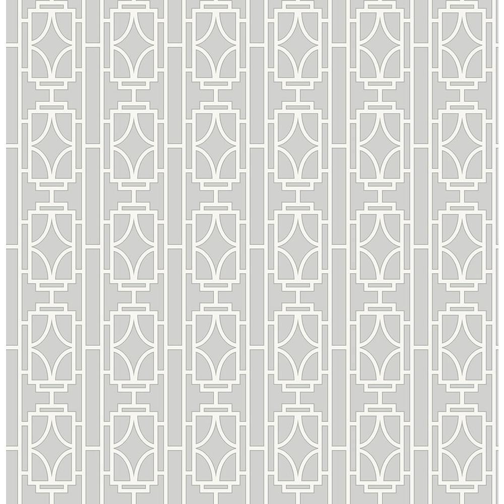 Beacon House Empire Silver Lattice Wallpaper Sample 2669-21744SAM