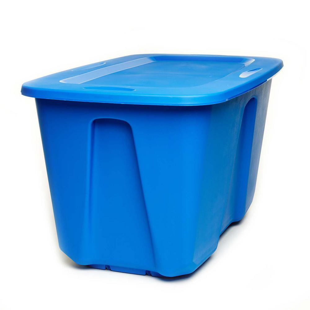 HOMZ HOMZ 32 Gal. Large Storage Tote in Blue (2-Pack)