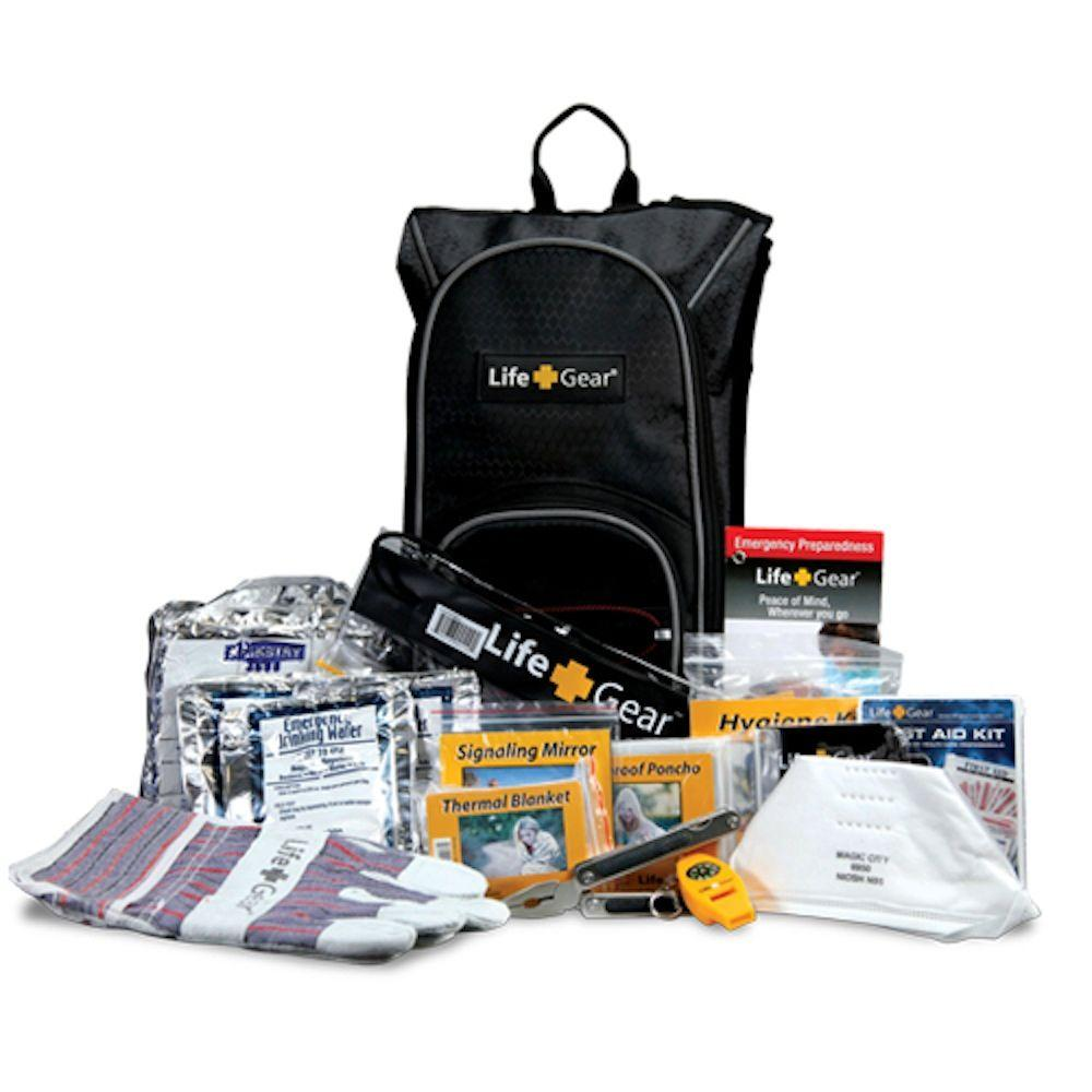 "Life+Gear ""Day Pack"" Emergency Survival Kit w/ Emergency Gear & First Aid Kit"