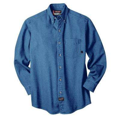 Medium Long Sleeve Denim Shirt Blue