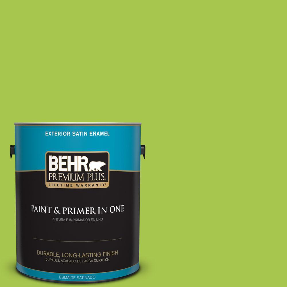 BEHR Premium Plus 1-gal. #420B-5 Sweet Midori Satin Enamel Exterior Paint