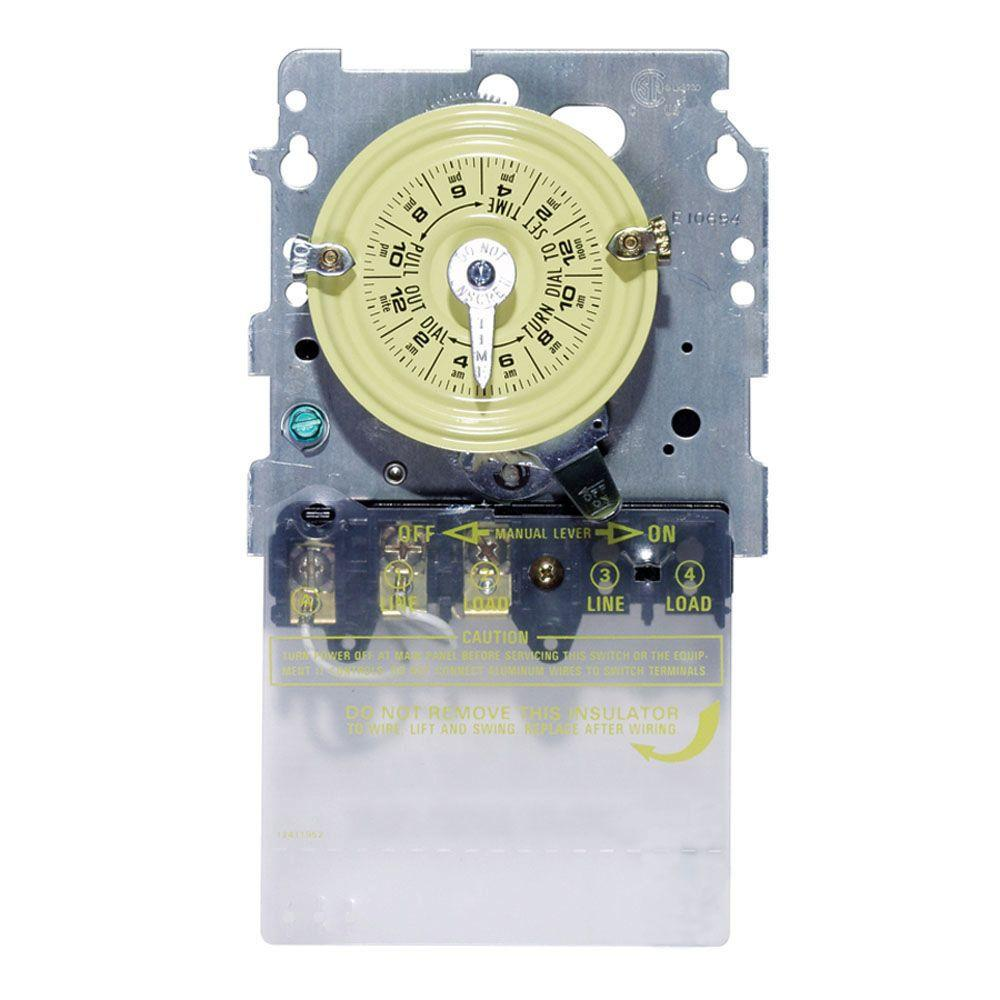 30 Amp Timers Wiring Devices Light Controls The Home Depot Circuit Breaker Timer Ebay T101 Series 40 125 Volt Spst 24 Hour Mechanical Time Switch Mechanism