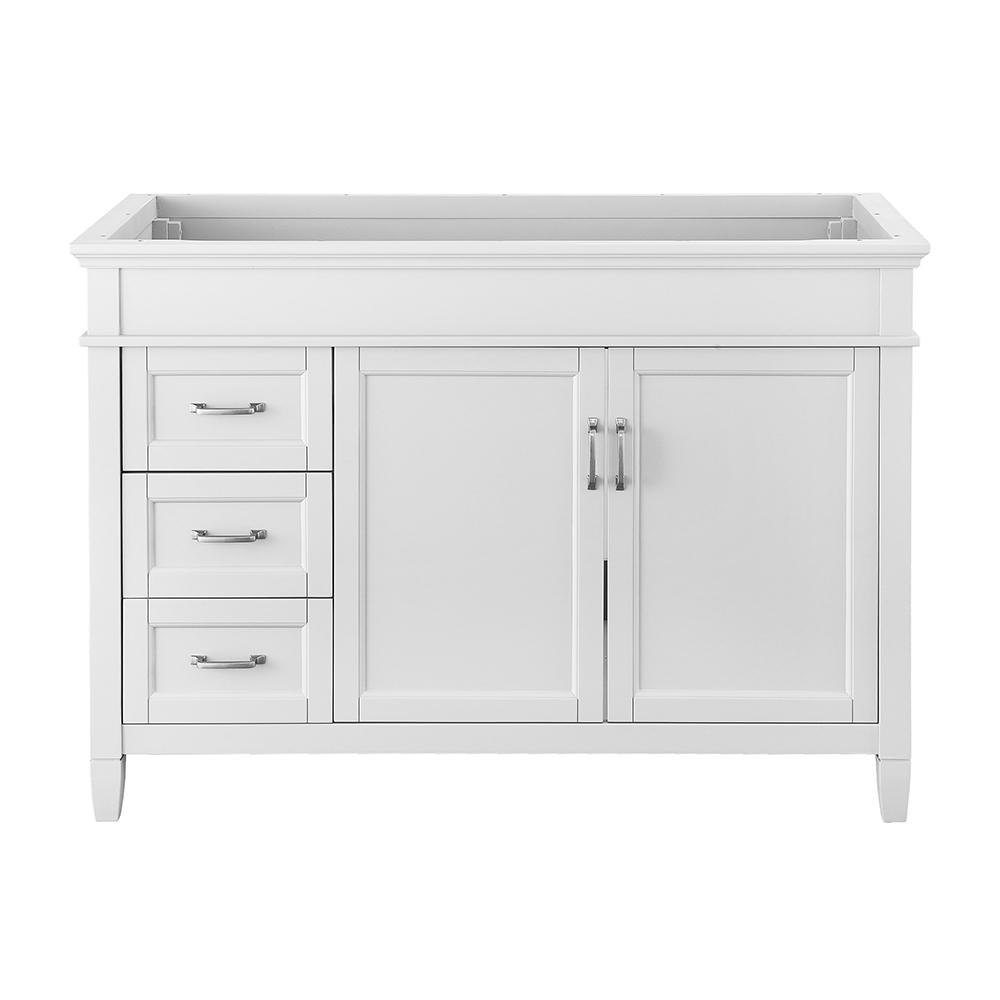 Foremost Ashburn 48 In W X In D Vanity Cabinet In White Aswa4821dl The Home Depot