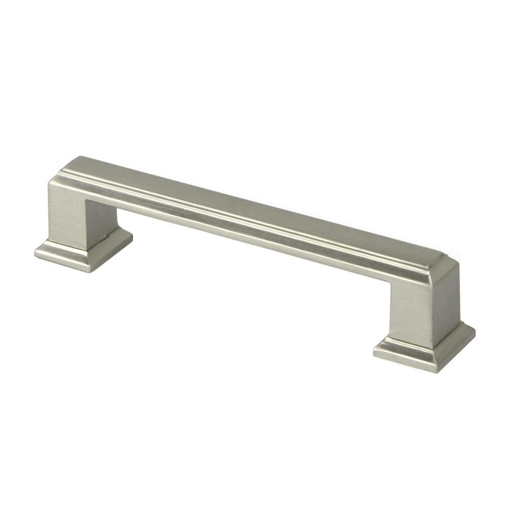 96 Mm Center To Zinc Alloy Brushed Nickel Drawer Pull 25 Pack Roma 4 The Home Depot