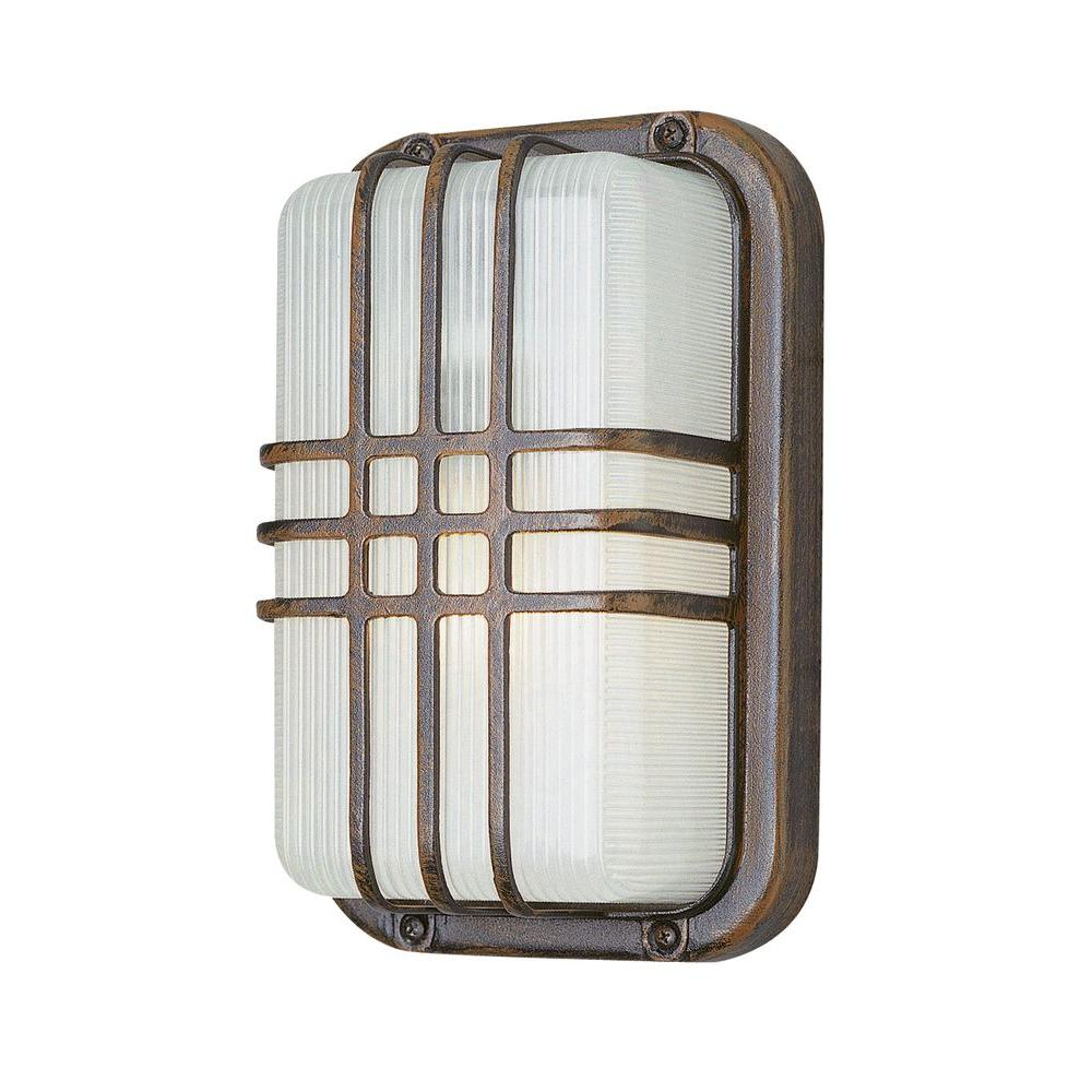 Stewart 1-Light Rust Outdoor CFL Wall Light