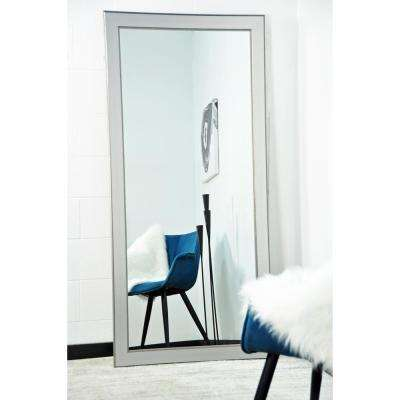 Mod Euro Silver Tall Framed Mirror