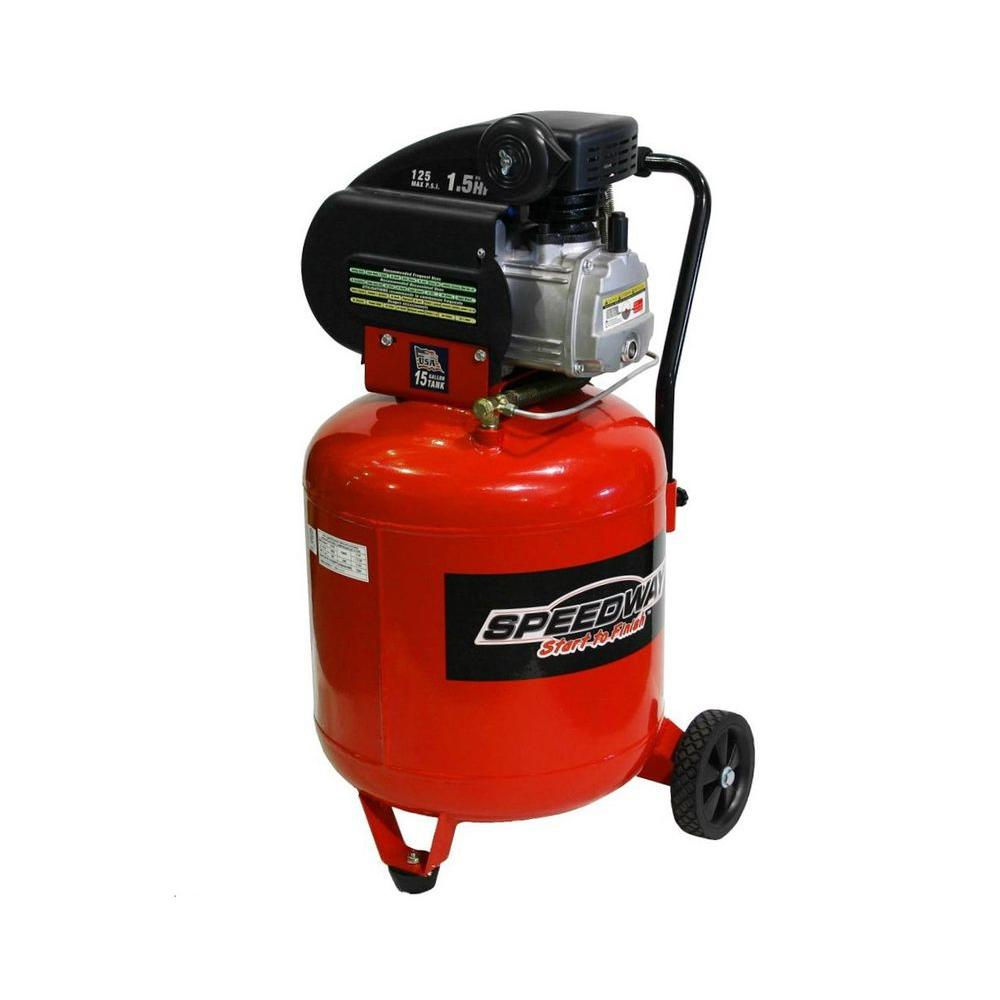 SPEEDWAY 15 gal. 1.5 HP Portable Electric Vertical Air Compressor
