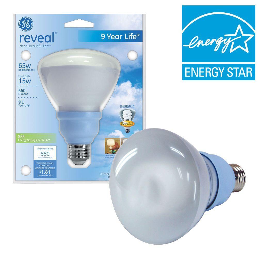 15-Watt (65W) BR30 Compact Fluorescent Flood Light Bulb (E)*