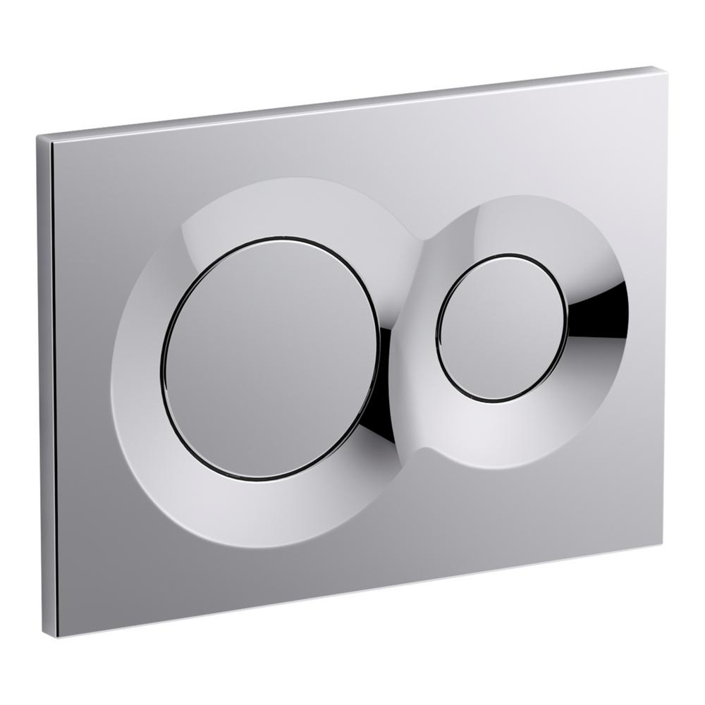 Lynk Flush Actuator Plate for Veil In-Wall Tank in Polished Chrome