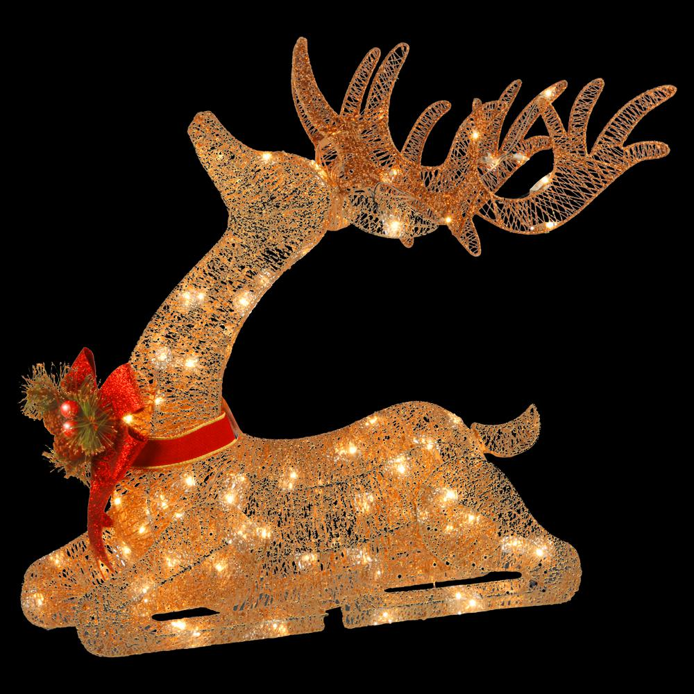 National tree company 31 in pre lit resting reindeer df for Lit national
