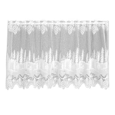 Pinecone 30 in. L Polyester Valance Tier in White