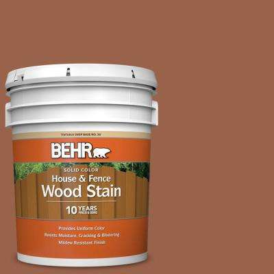 5 gal. #SC-122 Redwood Naturaltone Solid Color House and Fence Exterior Wood Stain