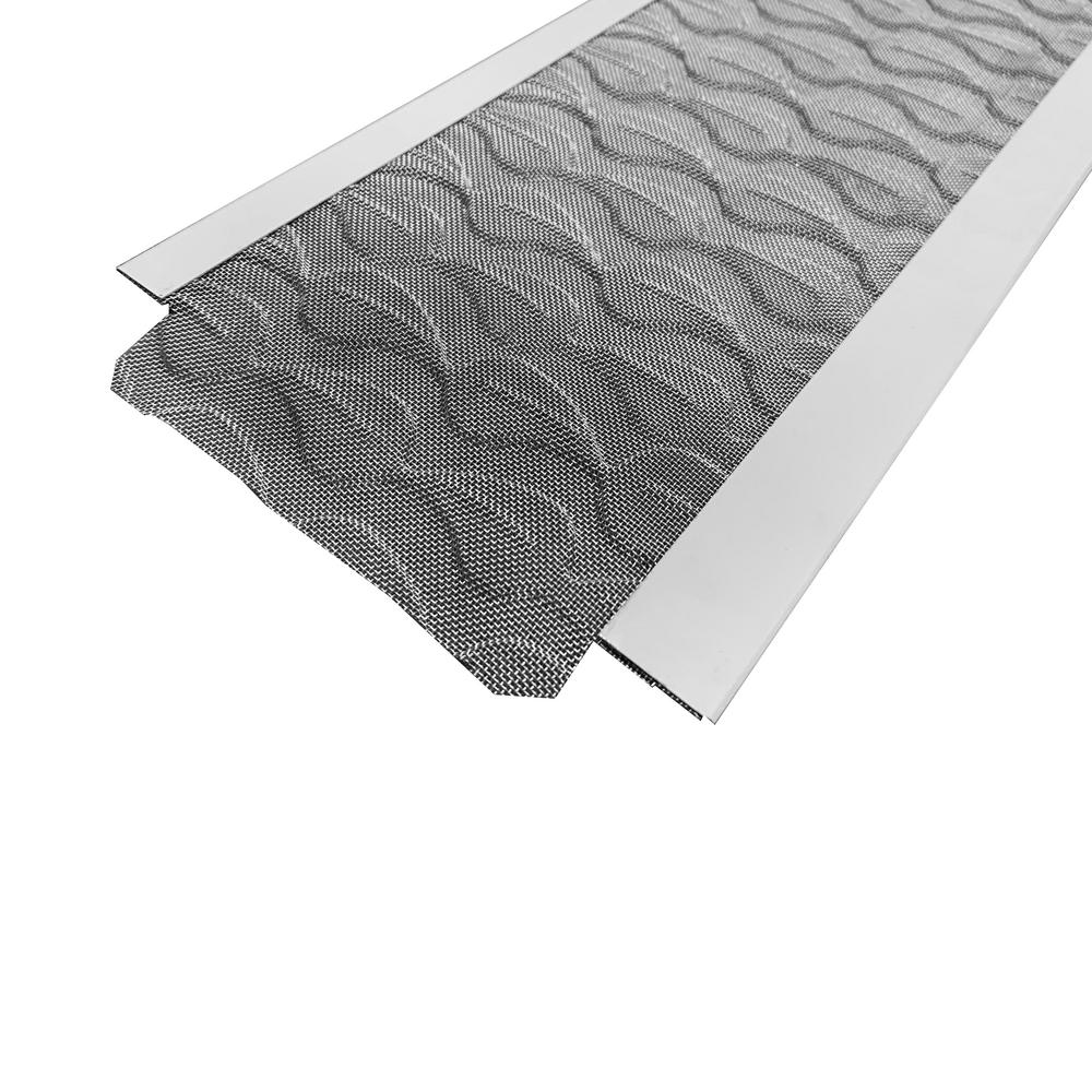 Best 1 Gutter Guards 3 Ft L X 5 In W Flex Fit Aluminum Gutter Guard With Stainless Steel Micro Mesh 25 Pieces Equals 75 Ft K5b1ff3al 75 The Home Depot
