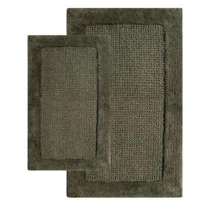 21 in. x 34 in. and 24 in. x 40 in. 2-Piece Naples Bath Rug Set in Peridot