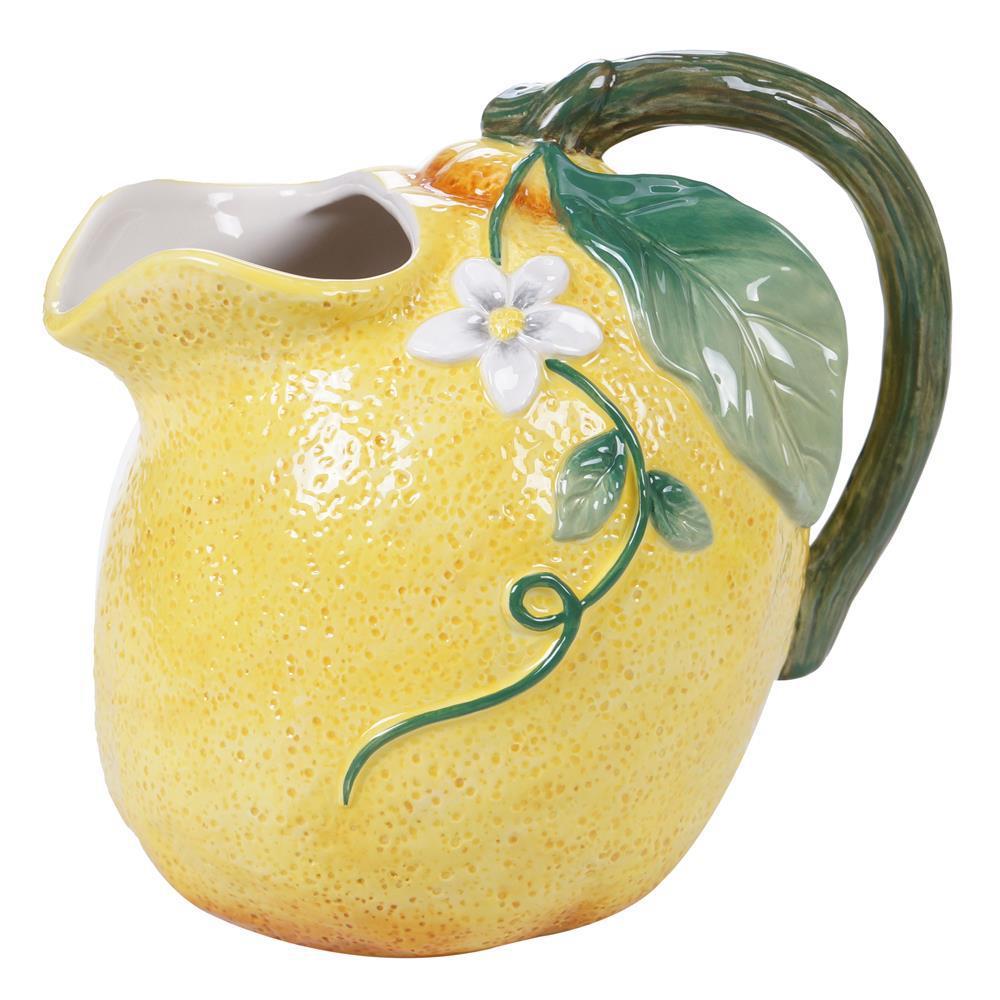Multi-Colored 72 oz. Citron 3-D Lemon Pitcher
