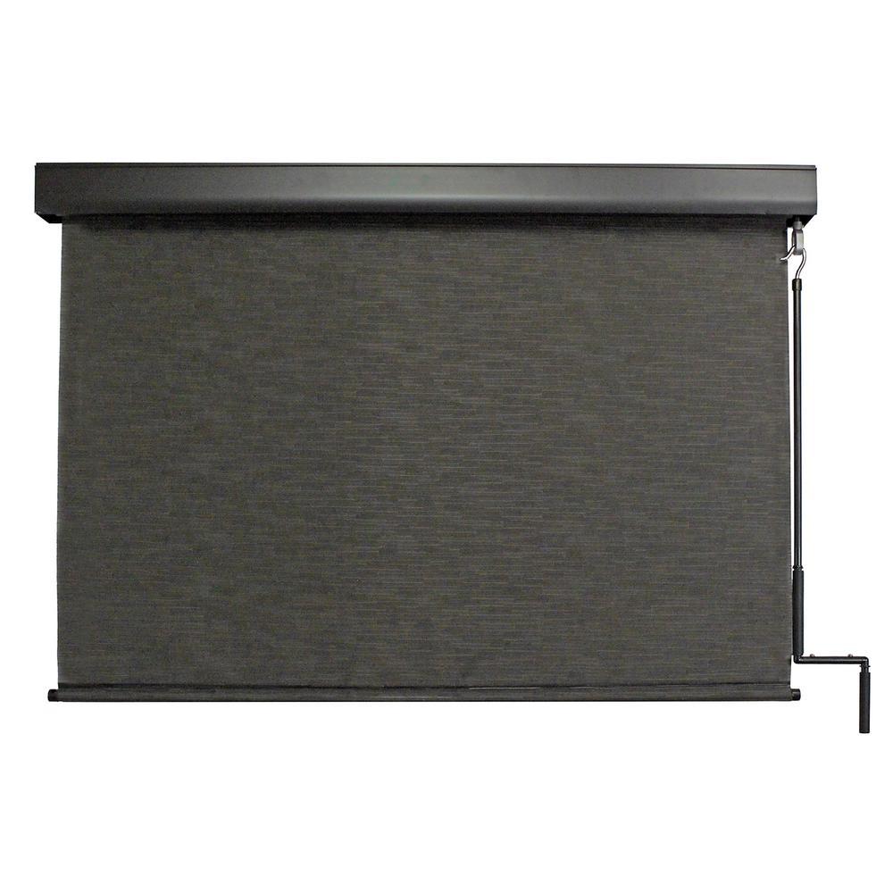 SeaSun Premium PVC Fabric Cordless Exterior Roller Shade Siesta Crank Operated... by SeaSun