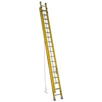 36 ft. Fiberglass D-Rung Extension Ladder with 375 lb. Load Capacity Type IAA Duty Rating