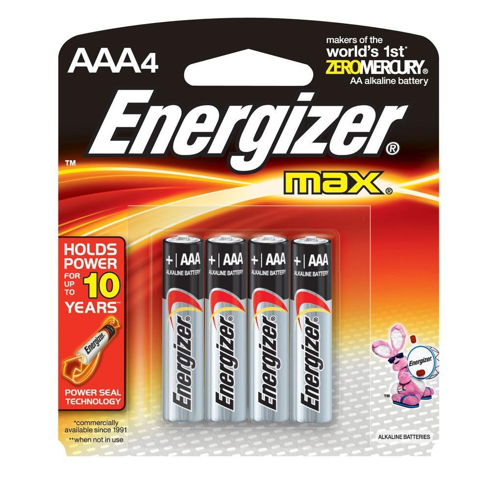 Energizer Max Alkaline AAA Batteries (4-Pack)