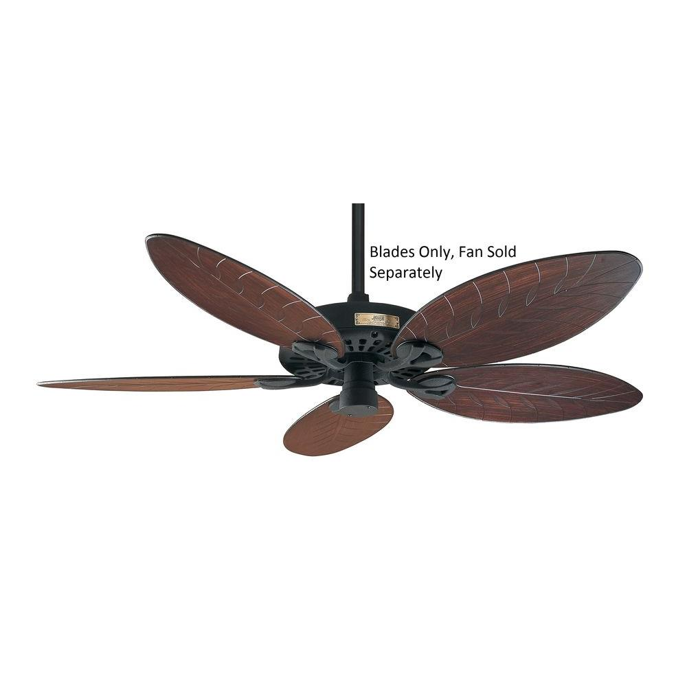 Hunter 52 in. Outdoor Reversible Antique Dark Plastic Palm and Wicker Original Ceiling Fans Blades-DISCONTINUED