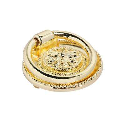 "Utopia Alley Medici Ring Pull, Polished Gold, 1 5/8"" Diameter"