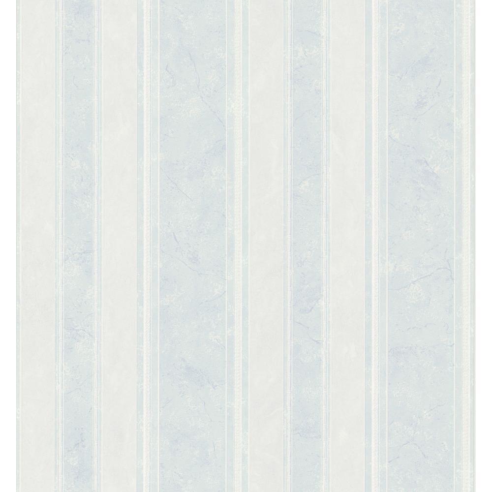 Brewster Bath Bath Bath III Blue Marble Stripe Wallpaper Sample