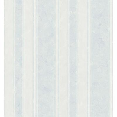 Bath Bath Bath III Blue Marble Stripe Wallpaper Sample
