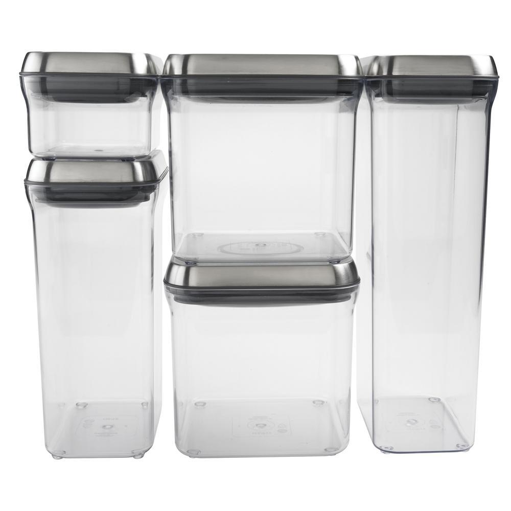 Steel 5-Piece POP Container Set